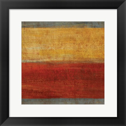 Framed Abstract Stripe Square II Print