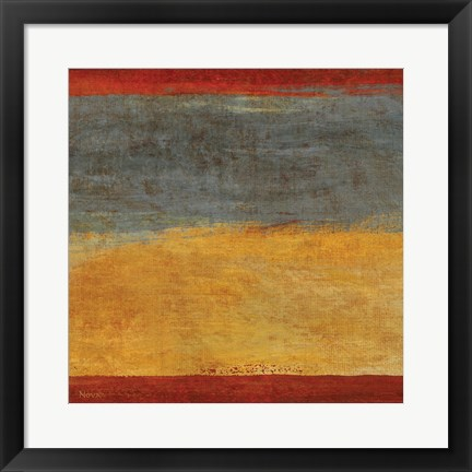 Framed Abstract Stripe Square I Print