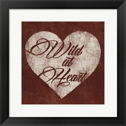 Framed Graffiti Heart I Print