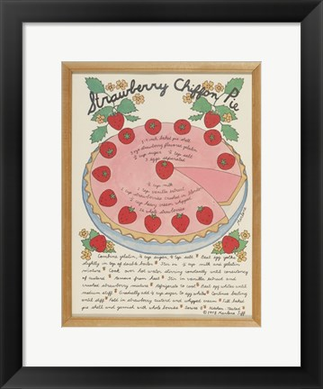 Framed Strawberry Chiffon Pie Print