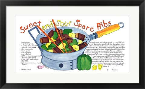 Framed Sweet and Sour Spare Ribs Print