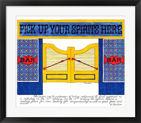 Framed Pick Up your Spirits Here Print