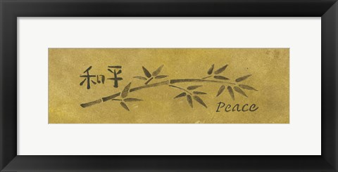 Framed Peace Bamboo Small Print