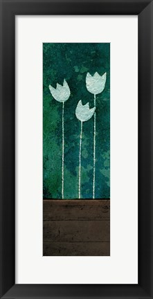 Framed Tall Tulips at Night Print