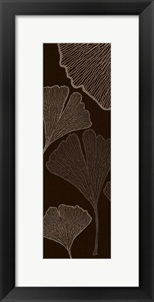 Framed Dark Falling Fowers Print