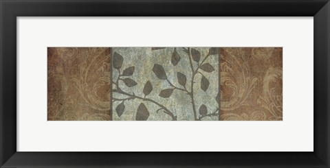 Framed Rustic Leaves I Print