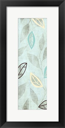 Framed Leaves on Blue Print