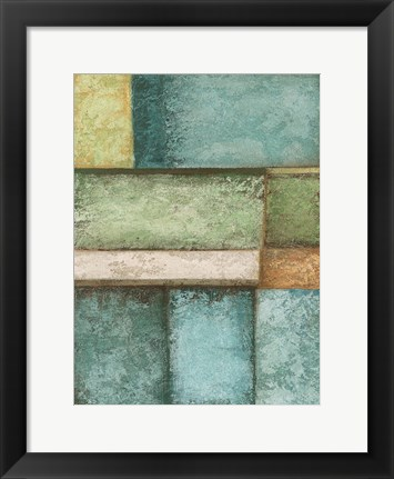 Framed Rectangle  Blue Velvet II Print