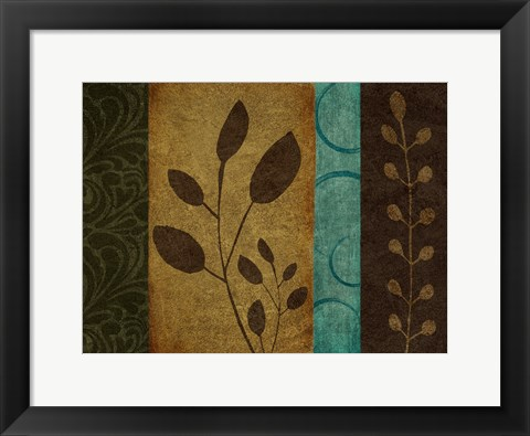 Framed Pressed Leaves 1 Print
