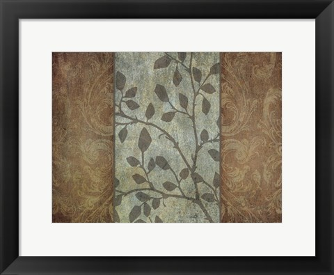 Framed RUSTIC LEAVES 1 Print