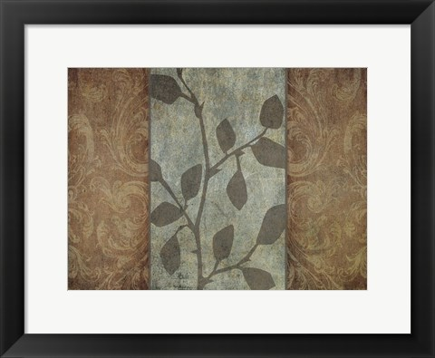 Framed RUSTIC LEAVES II Print