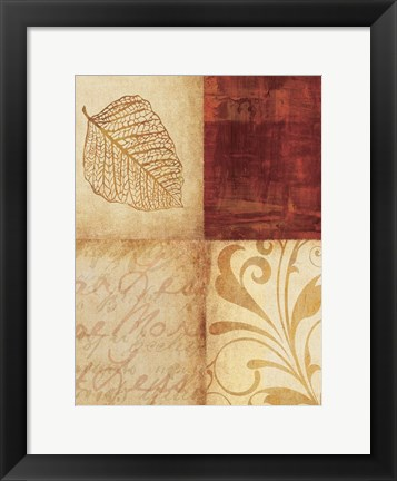 Framed Brown Decor By 4 Print