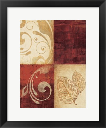 Framed Red Decor By 4 Print
