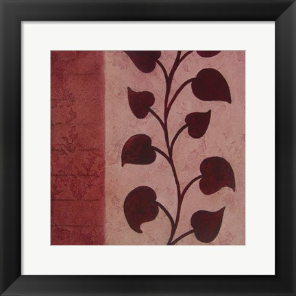 Framed Purple Vine Mate Print