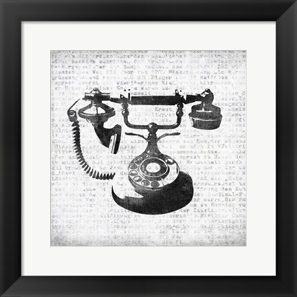 Framed Vintage Phone Print
