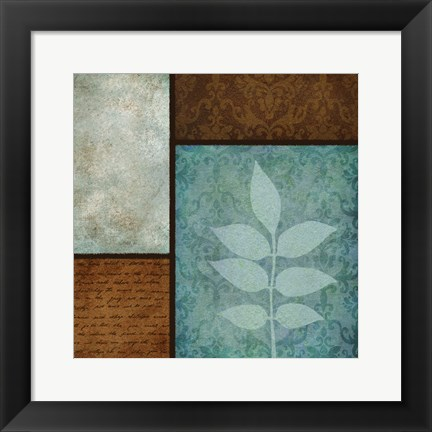 Framed Patterns Fern Mate Print