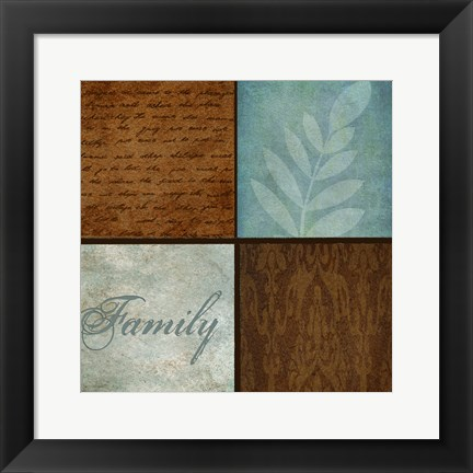 Framed Patterns And Ferns 4 Pack 2 Print