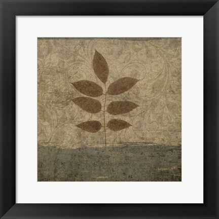 Framed Vintage Leaves 2 Print