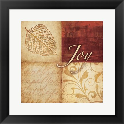 Framed Red Gold Joy Print
