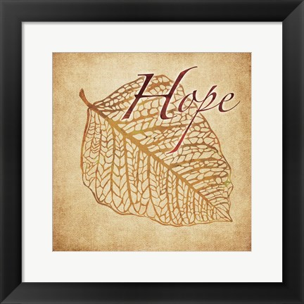 Framed Red Gold Hope Print