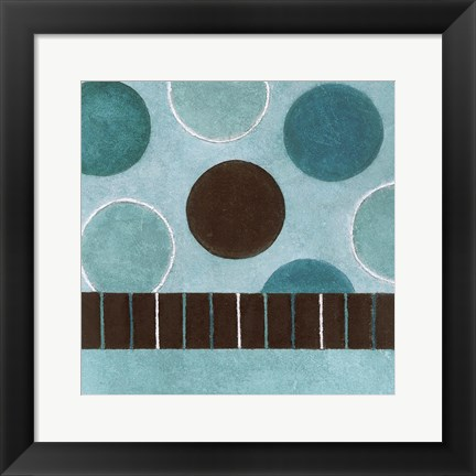 Framed Bubbles 1 Print