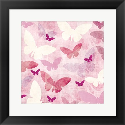 Framed Butterflys 3 Print