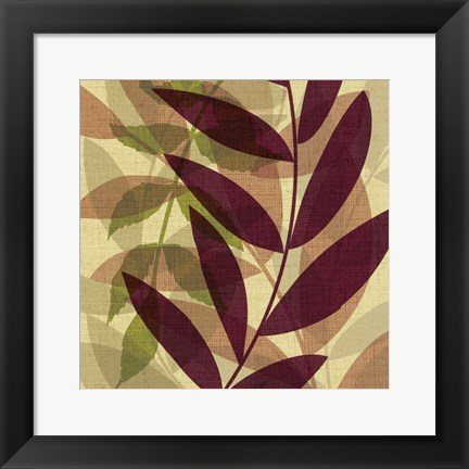 Framed Purple Yellow Leaves Print