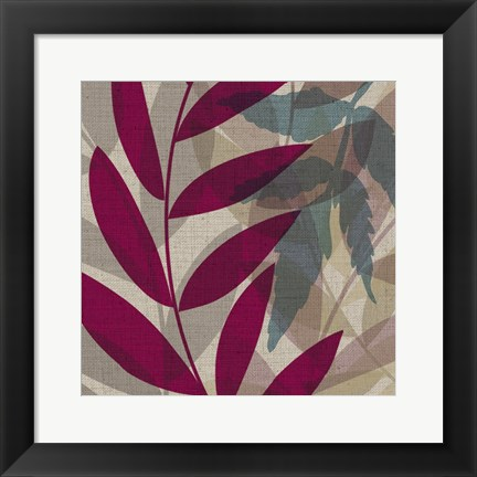 Framed Purple Green Leaves1 Print
