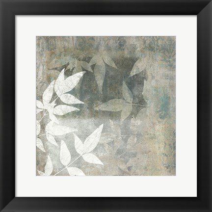 Framed Spa Leaves 2 Print