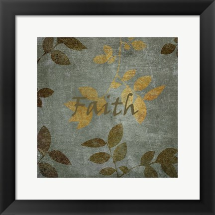 Framed Faith Leaves Print