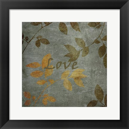 Framed Love Leaves Print