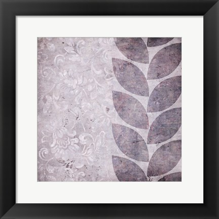 Framed Purple Leaves Print