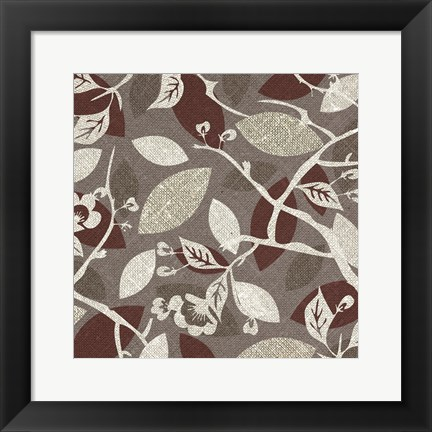 Framed Red Gray Fall A Print