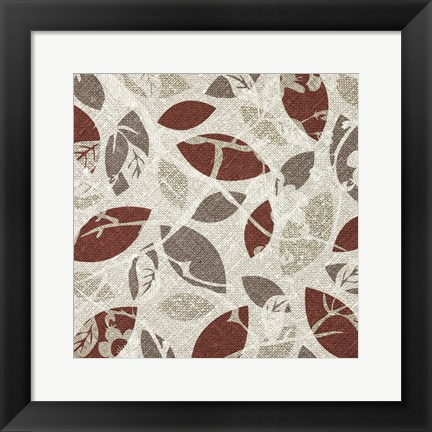 Framed Burgundy Gray Fall B Print