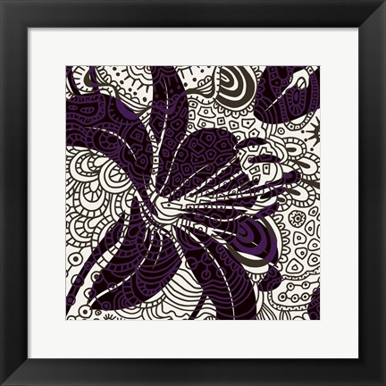 Framed Funky Flower A Print