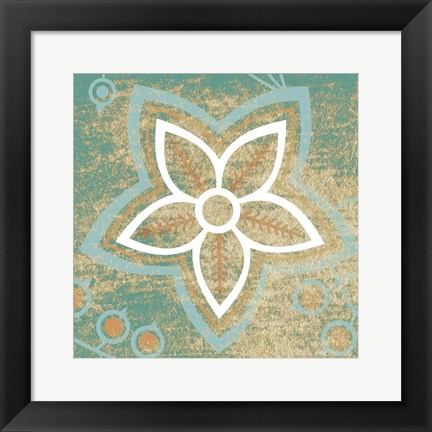 Framed Retro Flower 3 Print