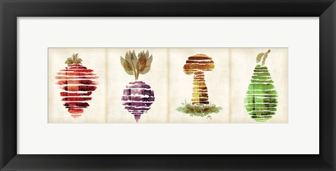 Framed Veggies B Print