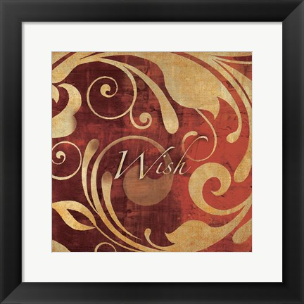 Framed Red Gold Wish Print