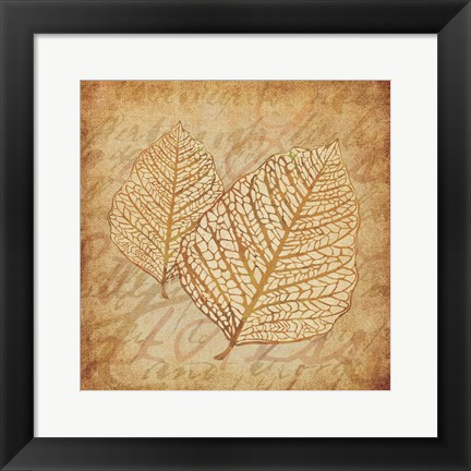 Framed Gold Leaves 3 Print