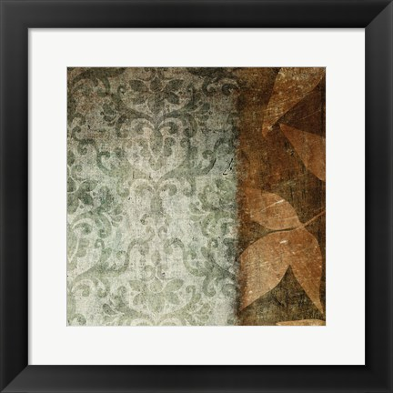 Framed Spice Leaves 1A Print
