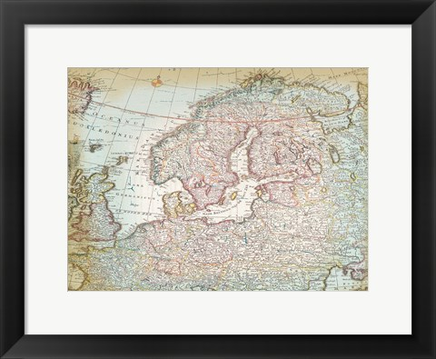 Framed World Map 8 Print