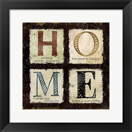 Framed Home is Heaven Print