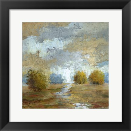 Framed Lush Meadow I Print