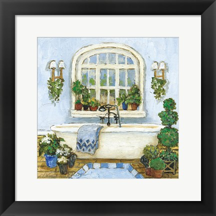 Framed Pampered Bath II Print