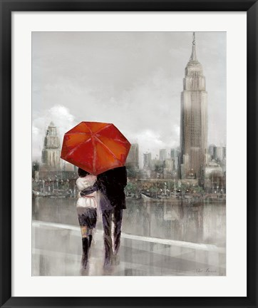 Framed Modern Couple in New York Print