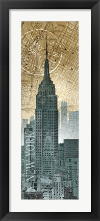 Framed New York Map Print