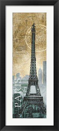 Framed Paris Map Print