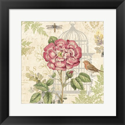 Framed Floral Nature Trail IV Print