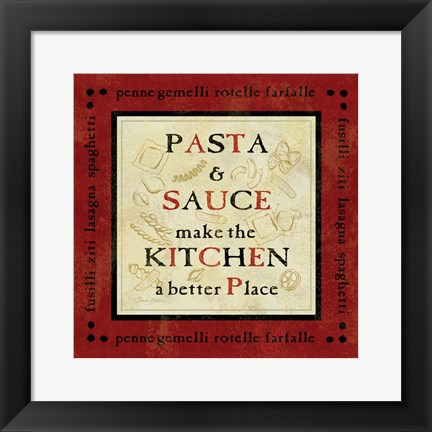 Framed Pasta Sayings II Print