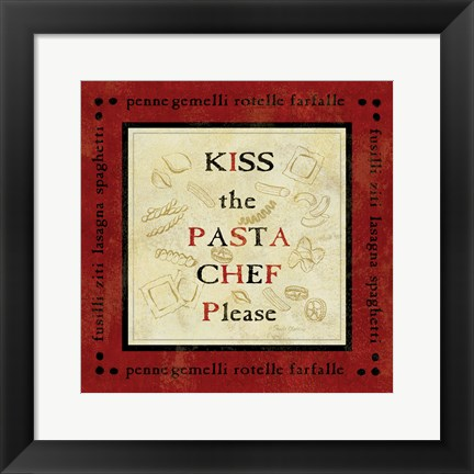 Framed Pasta Sayings III Print